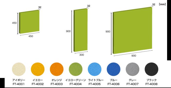 吸音パネルの寸法図