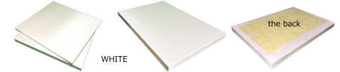 白色の64kグラスウール吸音板