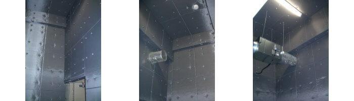 機械室防音工事の グラスウール施工例